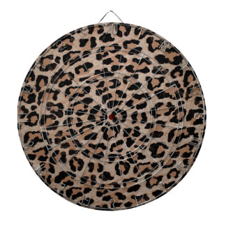 cheetah leopard print dartboard