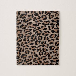 cheetah leopard print jigsaw puzzle