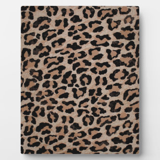 cheetah leopard print plaque