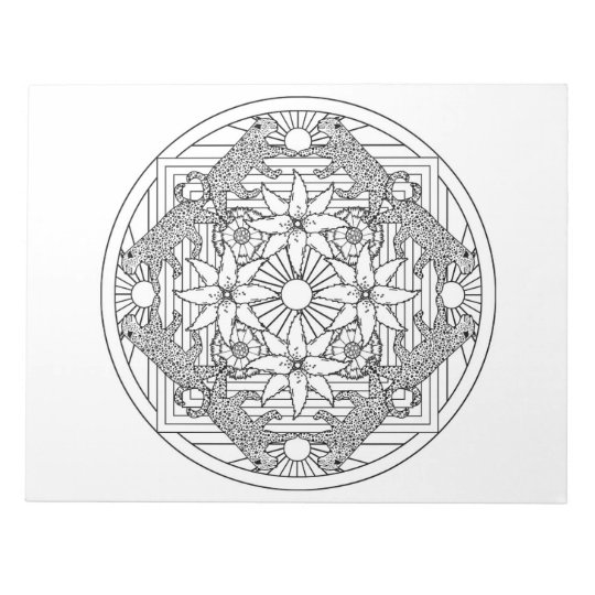 Cheetah Mandala Colouring Book Pad