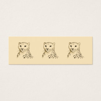 Cheetah. Mini Business Card