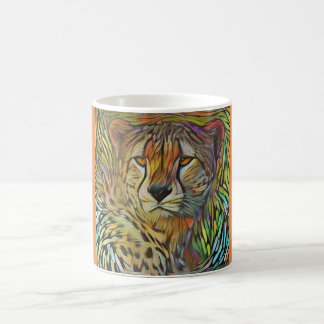 Cheetah orange coffee mug
