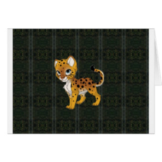 Cheetah Paper Products Card