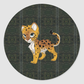 Cheetah Paper Products Classic Round Sticker