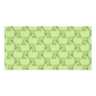 Cheetah Pattern in Green. Photo Greeting Card