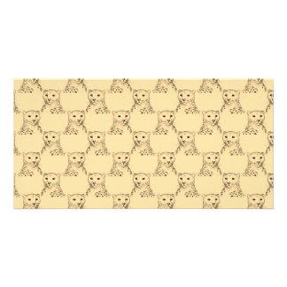 Cheetah Pattern on Beige. Picture Card