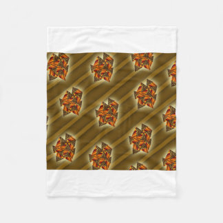 cheetah patterns with shadow lines Fleece Blanket