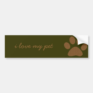 Cheetah Paw Print Bumper Sticker