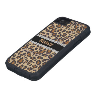 CHEETAH PERSONALIZED BLING  IPHONE 5 CASE