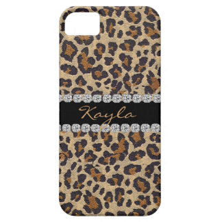 CHEETAH PERSONLIZED BLING  I phone 5 CASE