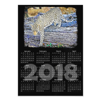 Cheetah Photo 2018 Calendar Magnetic Card