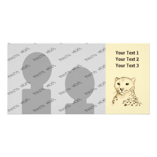 Cheetah Personalized Photo Card