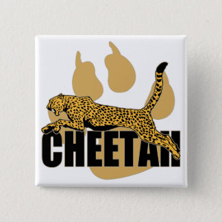 Cheetah Power 2 Inch Square Button