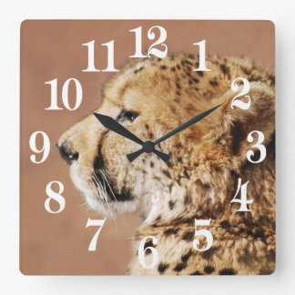 Cheetah Prince Square Wall Clock