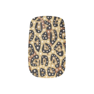 Cheetah Print Bling Minx Nails Minx Nail Art