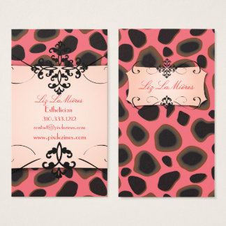 Cheetah print business cards