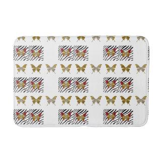 Cheetah Print Butterfly, Bath Mat