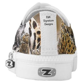 Cheetah Print Custom Zipz Low Top Shoes