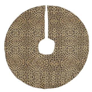 Cheetah Print Faux Linen Tree Skirt