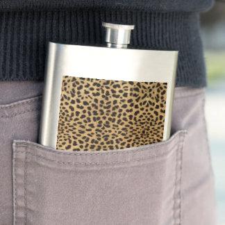 Cheetah Print Hip Flask