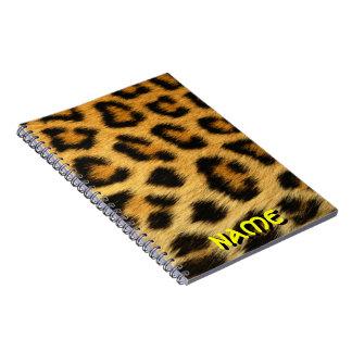 cheetah print notebook