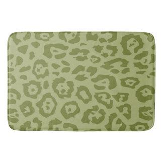 Cheetah Print Olive Bath Mat