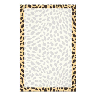 Cheetah Print Stationery