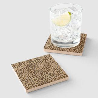 Cheetah Print Stone Coaster