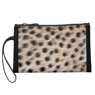 Cheetah Print Suede Wristlet