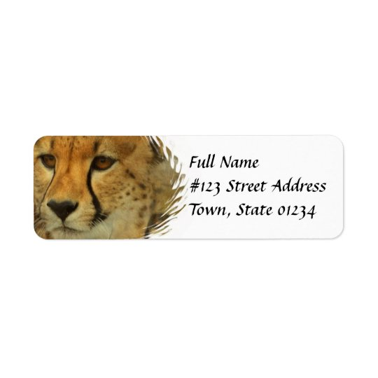 Cheetah Return Address Mailing Label