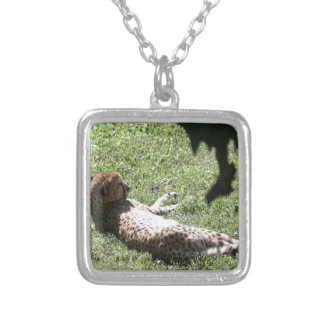 Cheetah Silver Plated Necklace