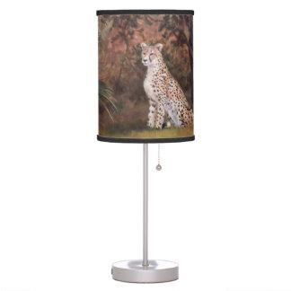 Cheetah Sitting Proud Table Lamp