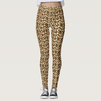 Cheetah skin pattern leggings
