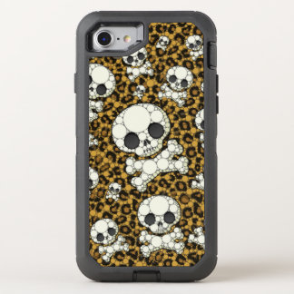Cheetah Skulls OtterBox Defender iPhone 8/7 Case