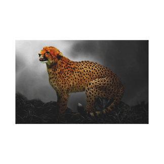 Cheetah spirit guard canvas print