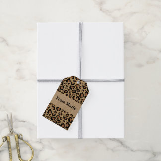 Cheetah Spots Gift Tags Pack Of Gift Tags