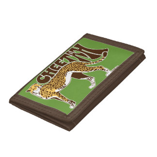 Cheetah Trifold Wallets