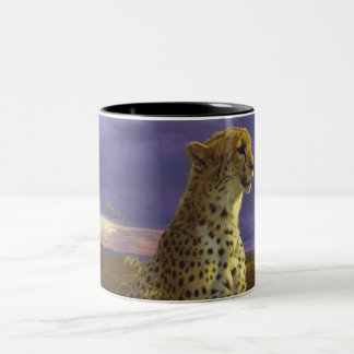 Cheetah Two-Tone Coffee Mug