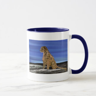 Cheetah under the blue sky mug