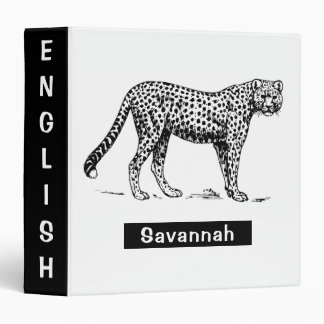 Cheetah Vinyl Binders