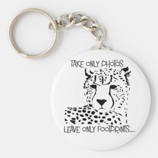 Cheetah wildlife key ring