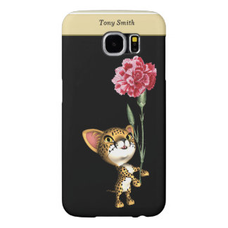 Cheetah With Flower Samsung Galaxy S6 Cases