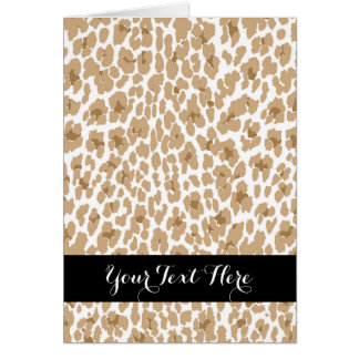 Cheetah & Zebra Card