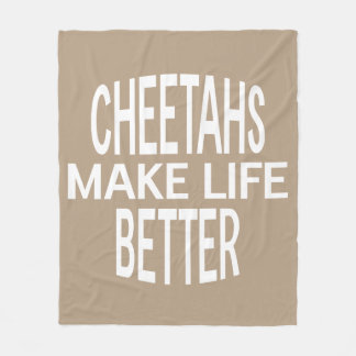 Cheetahs Better Blanket - Assorted Sizes & Colors