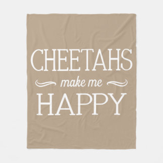 Cheetahs Happy Blanket - Assorted Sizes & Colors