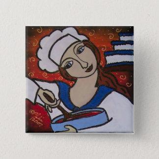 chef 2 inch square button