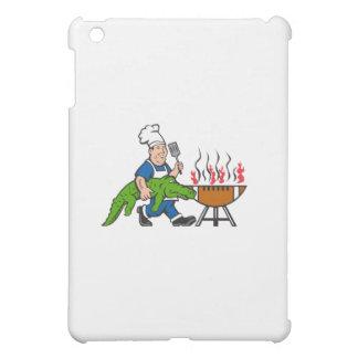 Chef Alligator Spatula BBQ Grill Cartoon Cover For The iPad Mini