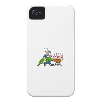 Chef Alligator Spatula BBQ Grill Cartoon iPhone 4 Case-Mate Case