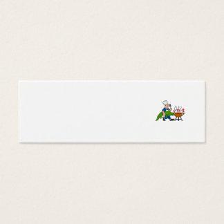 Chef Alligator Spatula BBQ Grill Cartoon Mini Business Card