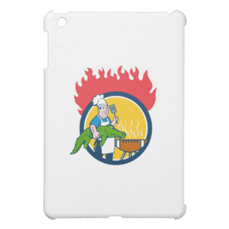 Chef Alligator Spatula BBQ Grill Fire Circle Carto Cover For The iPad Mini